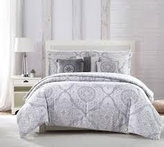 6 piece delia gray white blue comforter set cal king