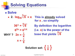 3 solving logarithmic equations