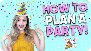 Party Planning How To Plan A Party Party Planning Checklist Youtube