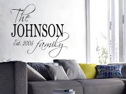 details about family name est personalized wall art decal e words lettering decor diy