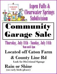 Jul 13 Aspen Falls Clearwater Springs Community Garage
