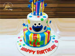 Baby 1st Birthday Cookie Monster Cake Online Cake Order And