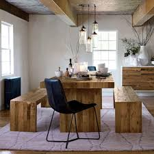 exquisite wooden dining tables with benches rustic table emmerson bench picnic style kitchen west elm quality salvaged wood house appealing wooden dining