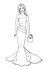 Small Picture Barbie Coloring Pages Fashion Dress Coloring Coloring Pages