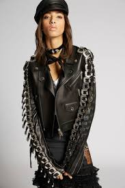 dsquared2 leather buckle jacket kaban woman