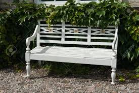 beautiful classical design park garden white wood bench seating
