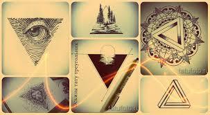 эскизы тату треугольник классные рисунки для того чтоб сделать