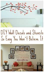 diy wall decals and stencils so easy you won t believe it