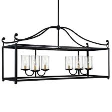feiss declaration 6 light island chandelier in antique forged iron