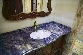 Custom Bathroom Countertops Enchanting Blue Marble Bathroom Countertop Bling Blue Marble Blue Marble Slab