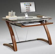 exellent modern glass computer desk desks on design
