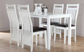 white and black dining room table. Fabulous White Wooden Dining Table And Chairs Sets Furniture Choice Black Room