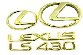 gold lexus logo. Fine Logo Get Quotations  20012003 LEXUS LS430 24K GOLD PLATED EMBLEM KIT Throughout Gold Lexus Logo C
