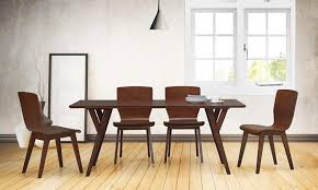 mid century modern dining room table. mid century modern dining room chairs mid-century set | groupon goods table