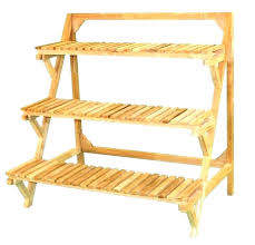 wooden plant stands indoor two tier stand three tiered outdoor diy it wood tiere