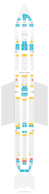 Seat Map Boeing 777 300er 77w China Southern Airlines