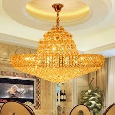 led modern golden k9 crystal chandelier big round gold crystal in widely used big chandeliers