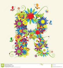 Letter R Floral Design Illustration 10275105 Megapixl