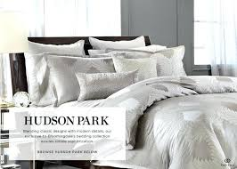 hudson park bedding park bedding logo expert all s best on home comforter and bed puff