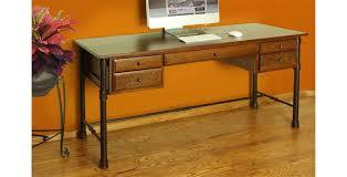 laredo rustic home office desk w metal base