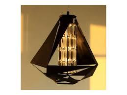 inspired lighting. Designer Diamond Shape Pendant Light In Black White With Crystal Inspired Lighting N