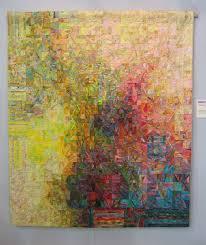 Pointillism with fabric! http://paulaobrien.files.wordpress.com ... & Subtle fabrics shimmer across art quilt from Japan: Anyone know the artist  name? Adamdwight.com