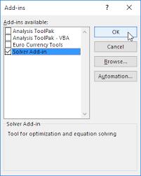 Solver In Excel Easy Excel Tutorial