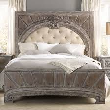 wood and upholstered beds. True Vintage Wood \u0026 Upholstered Panel Bed In Whitewashed Driftwood By Hooker Furniture And Beds