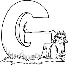 worksheet of letter g for goat