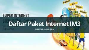 Perlu diketahui, saat ini kecepatan download indosat merupakan salah satu yang paling cepat daftar paket super internet kuota im3. Cara Mudah Daftar Paket Internet Im3 Terbaru Juni 2021