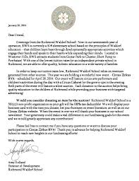 Solicitation Latter Solicitation Letter And Donor Form Richmond Waldorf School