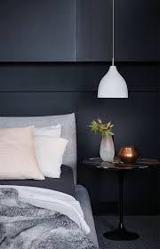 pendant lighting for bedroom. a white concrete pendant lamp is ideal for modern or minimalist bedroom lighting