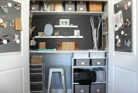 home office in a cupboard. Home Office In Closet \u2013 Gallery Image A Cupboard