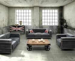 industrial style living room furniture. Industrial Living Room Furniture Loft Eclectic Table Set . Style U