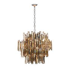 eurofase vienna collection 15 light chrome chandelier with crystal shade