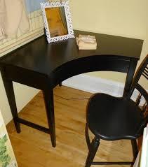 wooden corner desk. Traditional Black Wooden Corner Desk Design Also Nice Chair O