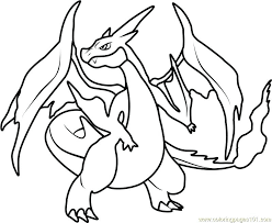 charizard ex coloring pages awesome mega x page sheet m