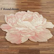 plush nursery rug pink fl area rug round flower shaped rugs grey nursery soft fluffy indoor pale carpets plush baby rugs