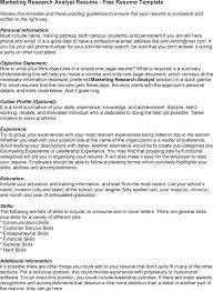 Cover Letter Marketing Research Analyst Resume Examples With