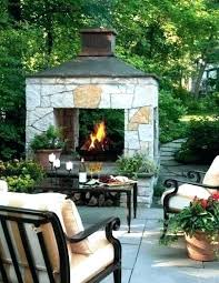 cost to build outdoor fireplace how material a fake b