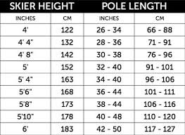 Ski Length Height Chart Ski Pole Measurement Chart Google Search Ski Gear