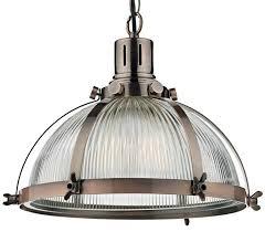 pendant lighting industrial. Dar Debut Copper Industrial Style Ribbed Glass Pendant Light Lighting T