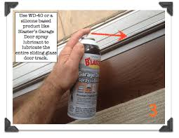 lubricate the entire sliding glass door track