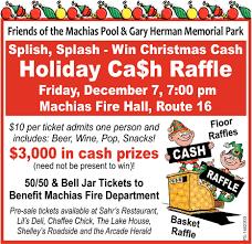 Cash Raffles Holiday Cash Raffle Machias Fire Hall Machias Ny