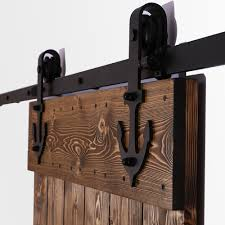 anchor style 6ft 16ft sliding barn door hardware rustic black sliding kit unique roller kit in doors from home improvement on aliexpress alibaba group