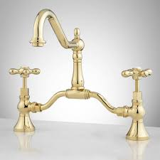 Brass Bathroom Faucet Elnora Bridge Bathroom Faucet Cross Handles Bathroom