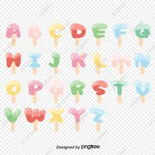 The phonetic alphabet or the spelling alphabet will show your customers that you want to get it right for them. Vector Flat English Alphabet Cute Ice Cream Ice Lolly Art Font Font Effect Ai For Free Download