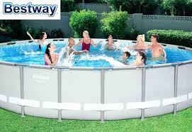 bestway pool set power steel round frame swimming pool set outdoor above ground bestway pool heater setup