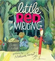 exuberant retelling of little red riding hood in which a brave little red pencil finds her way through the many perils of writing a story