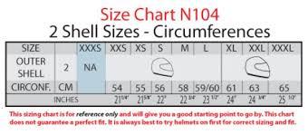 Nolan N104 Size Chart Nolan N104 Absolute Solid Helmet